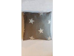 Povlak na vankúš hviezdičky 40x40cm sivo biely