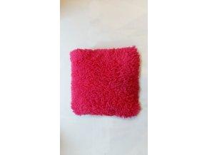 Plyšový povlak na vankúš 40x40cm sýto ružový
