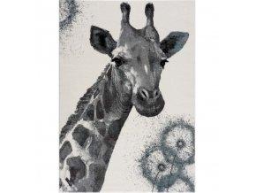 Dětský koberec žirafa bílý různé rozměry (1)