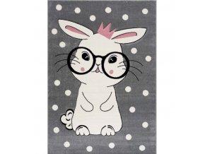 Dětský koberec králíček šedý různé rozměry (1) 2