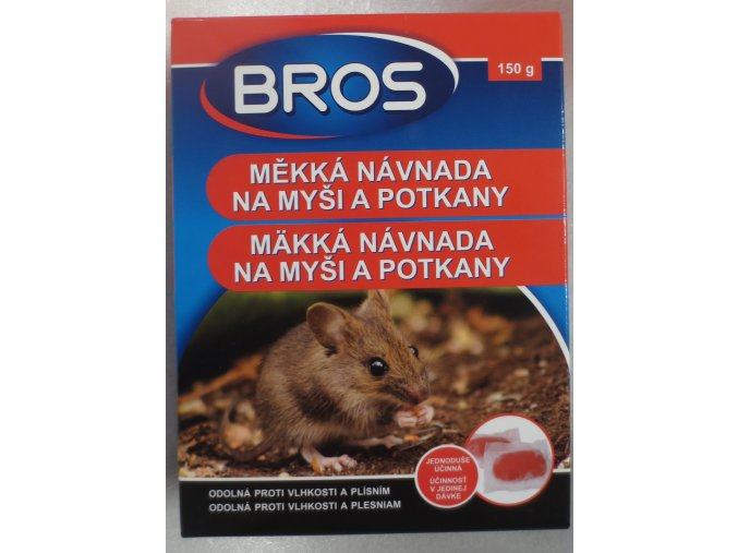 Bros - měkká návnada na myši a potkany 150g