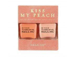 NAILS.INC - Kiss my peach  DÁRKOVÉ DUO LAKŮ NA NEHTY