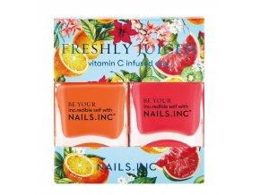 NAILS.INC - Freshly juiced  BAREVNÉ DUO LAKŮ NA NEHTY