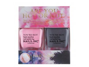 NAILS.INC - Are you hot or not?  BAREVNÉ DUO LAKŮ NA NEHTY