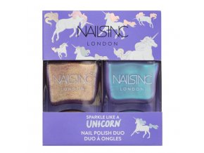 NAILS.INC - Sparkle like a unicorn  DUO HOLOGRAFICKÝCH LAKŮ NA NEHTY