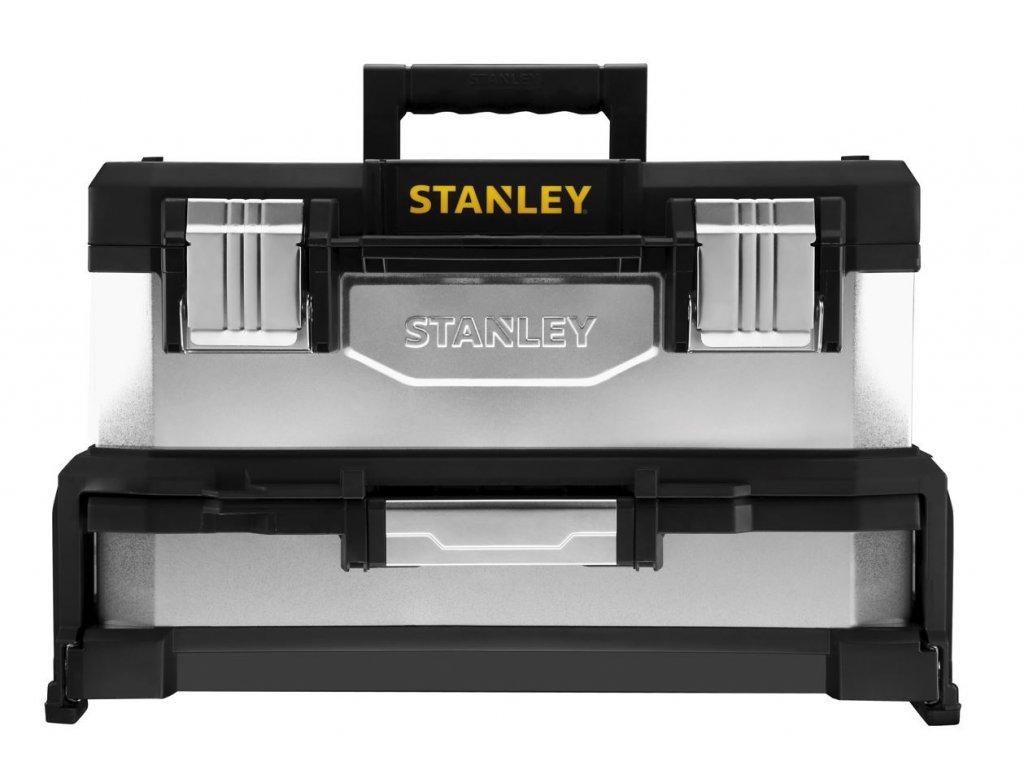 9492 1 95 830 stanley kovoplastovy box na naradi se zasuvkou galvanizovany