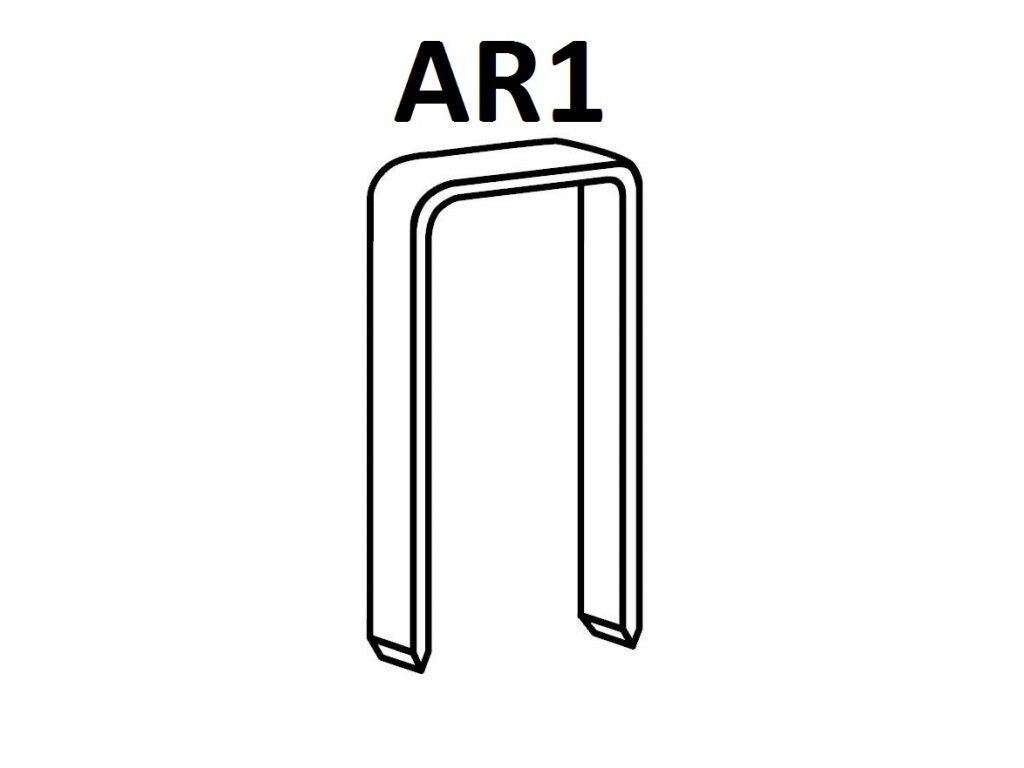 BOSTITCH kartonážní sponky AR1 15-22 mm, pozink 24000ks (D?lka 1451500Z spony AR1 - 15 mm, pozink 24000ks)