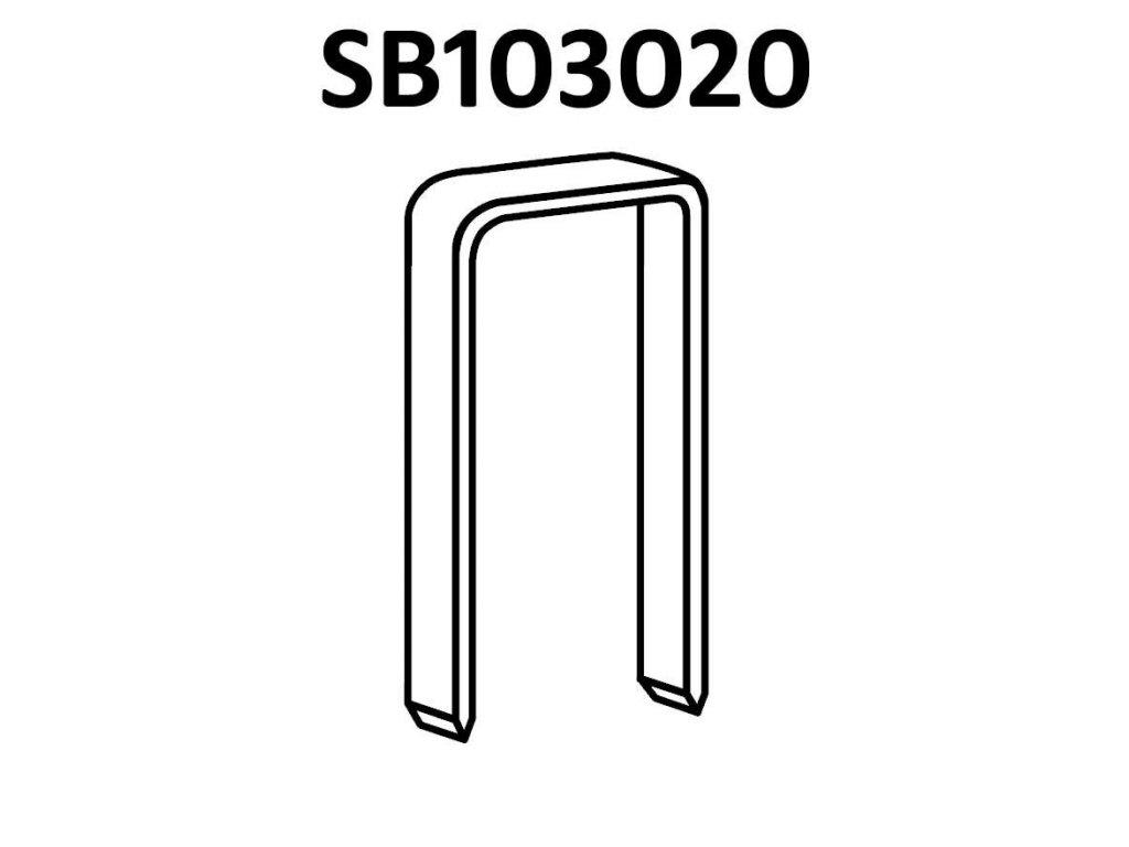 BOSTITCH kartonážní sponky SB103020 10-15 mm, pozink 2100-2900ks (D?lka SB10302010Z spony - 10 mm, pozink 2900ks)