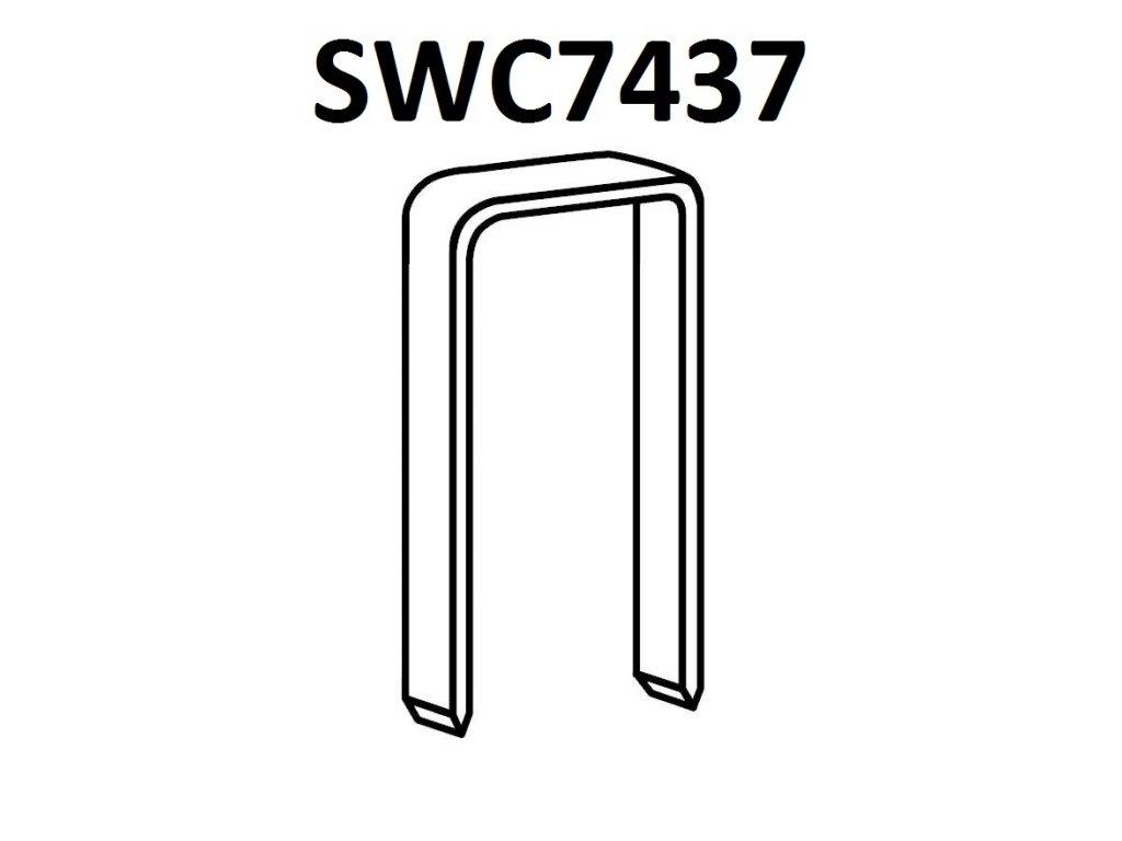 BOSTITCH kartonážní sponky SWC7437 15-19 mm, pozink 24000ks (D?lka SWC743715-1MZ spony SWC7437 - 15 mm, pozink 24000ks)