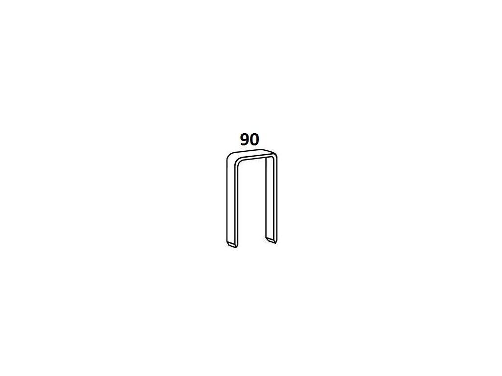 Bostitch spony 90 15-35 mm, pozink 3000 - 7000ks (D?lka 1901501Z spony 90 - 15 mm, pozink 7 000ks)