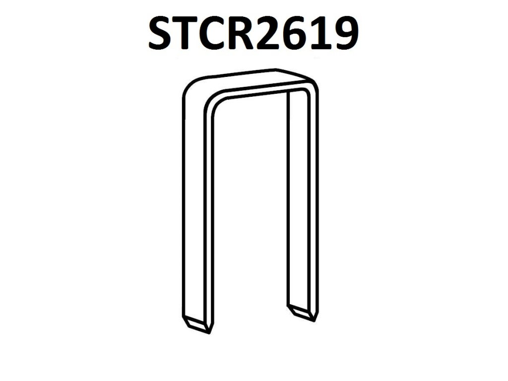 BOSTITCH spony STCR2619 6-10 mm, pozink 5000ks (D?lka STCR26191/4 spony - 06 mm, pozink 5000ks)