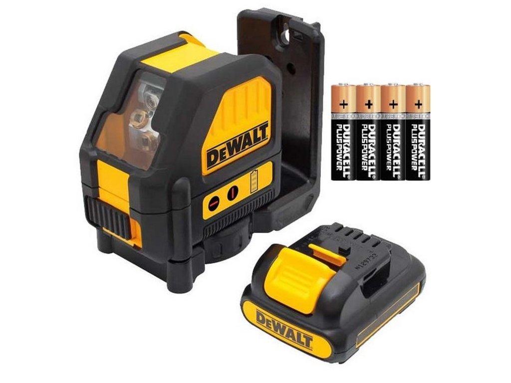 2860 dce088lr dewalt cerveny krizovy laser s adapterem na pripojeni 4 x aa baterie pres system xr