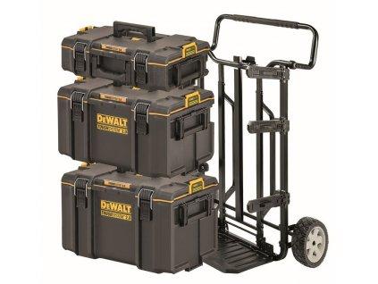 319 1 70 349 dewalt dstrolley kompletni set kufru 4 v 1 tough box a prepravniho voziku dscarrier