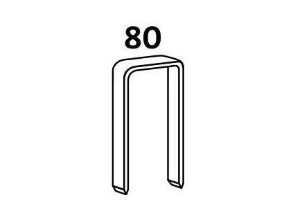 Bostitch čalounické spony 80 6 - 16 mm, pozink 10 000ks (D?lka 1800601Z spony 80 - 06 mm, pozink 10 000ks)