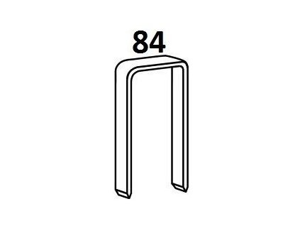 Bostitch čalounické spony 84 6 - 14 mm, pozink 10 000ks (D?lka 1840600Z spony 84 - 06 mm, pozink 10 000ks)