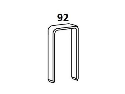 Bostitch spony 92 20-40 mm, pozink 3000-60000ks (D?lka 1922001Z spony 92 - 20 mm, pozink 6 000ks)