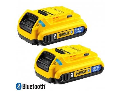 1486 dcb283b dewalt bluetooth nasunovaci baterie 18 v xr li ion s kapacitou 2 0 ah 2 ks
