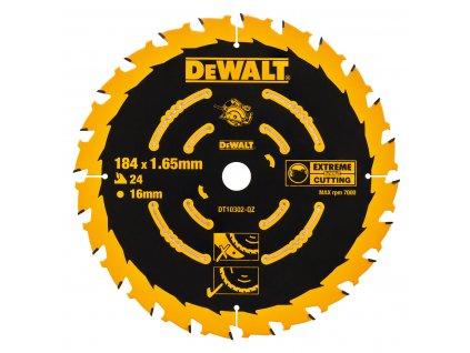 972 dt10302 dewalt pilovy kotouc pro kot pily 184x16mm 24 zub atb 20 univerzalni rez