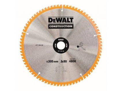 2389 1 dt1184 dewalt pilovy kotouc 305x30mm 80zubu uhel brouseni zubu atb 5