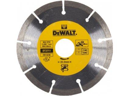 100(1) dt3711 dewalt diamantovy kotouc pro suche rezani betonu a cihel ze slinutych karbidu 125x22 2mm