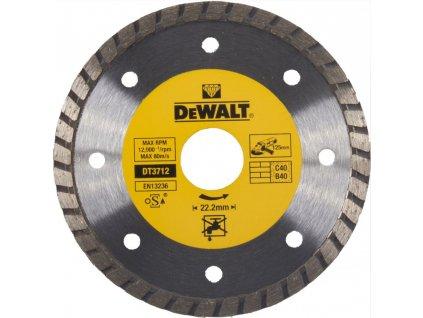 1509 dt3712 dewalt diamantovy kotouc turbo pro suche rezani ze slinutych karbidu 125x22 2mm