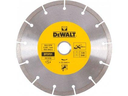 1506 dt3721 dewalt diamantovy kotouc pro suche rezani betonu a cihel ze slinutych karbidu 180x22 2mm