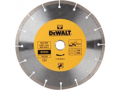 1507 dt3731 dewalt diamantovy kotouc pro suche rezani betonu a cihel ze slinutych karbidu 230x22 2mm