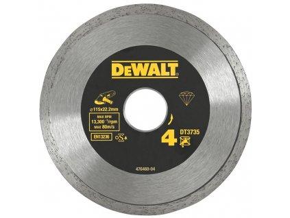 1526 dt3735 dewalt diamantovy laser kotouc na obklady a dlazbu 115x22 2mm