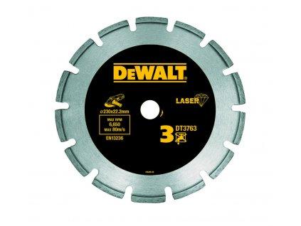 1525 dt3763 dewalt diamantovy laser kotouc pro tvrde materialy zulu mokre a suche rezani 230x22 2mm