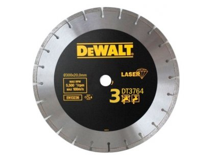 1512(1) dt3764 dewalt diamantovy laser kotouc pro tvrde materialy zulu mokre a suche rezani 300x20mm