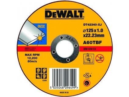 1616 dt42340z dewalt kotouc rezny na nerez plochy 125x22 2x1 2mm typ 1