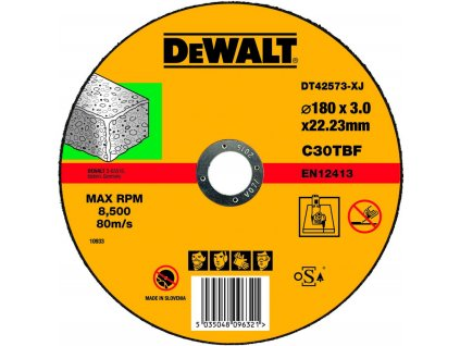 1640 dt42573 dewalt kotouc na rezani kamene plochy 180x22 2x3 0mm typ 1