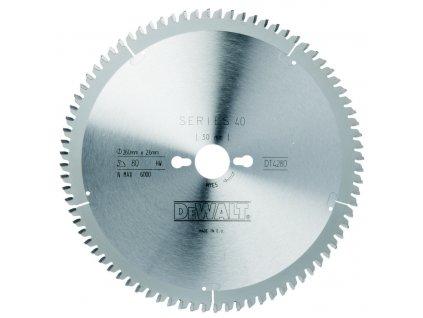 1543 dt4280 dewalt pilovy kotouc 260x30mm 80 zubu tcg 5 dyha laminat hlinik