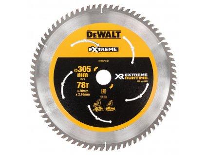 6435 dt99576 dewalt pilovy kotouc xr flexvolt 305 x 30 mm 78 zubu pro velmi jemny rez pokosove pily 305mm