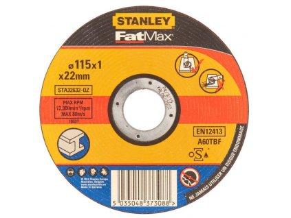 STA32632 STANLEY FATMAX ŘEZNÝ KOTOUČ ⌀115 X 22,2MM X 1,0MM NA KOV