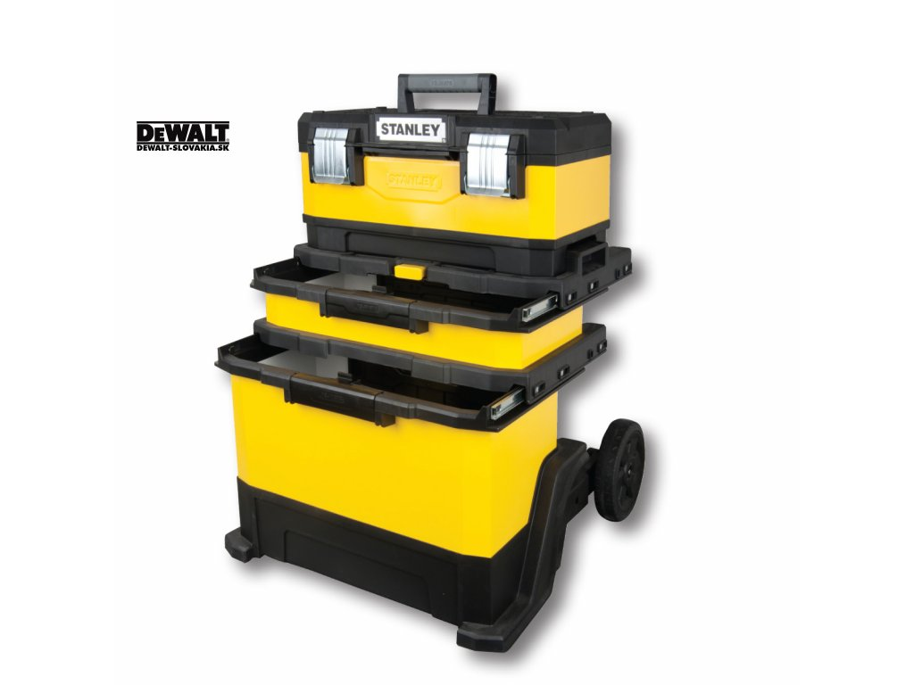 3799 1 95 621 stanley kovoplastovy montazni pojizdny box