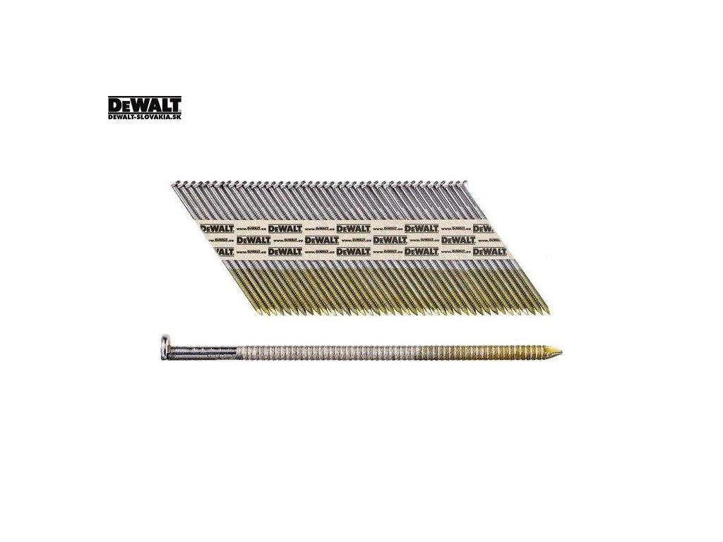DeWALT Leštěné kroužkované hřebíky 50-90 mm, 2200 ks v krabici - EC5 - tř. 1 (Druh DT99528RB hřebíky 2,8 X 50 mm)