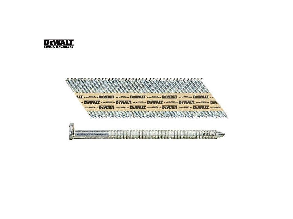 DEWALT Pozinkované KROUŽKOVANÉ HŘEBÍKY 50-90 MM, 2200 KS V KRABICI - EC5 - TŘ. 2 (Druh DT99528RG hřebíky 2,8 X 50 mm)