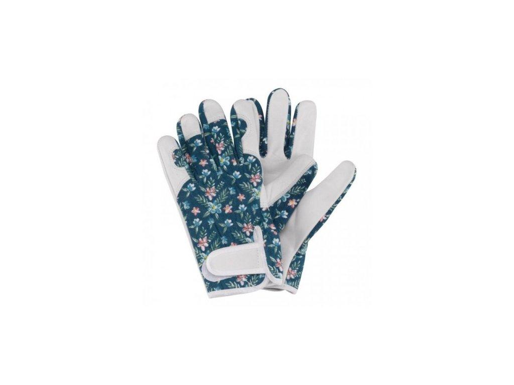 damske kozene rukavice se suchym zipem modre