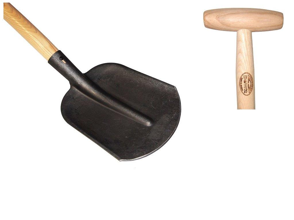 Lopata zaoblená s nášlapem, násada 1100mm
