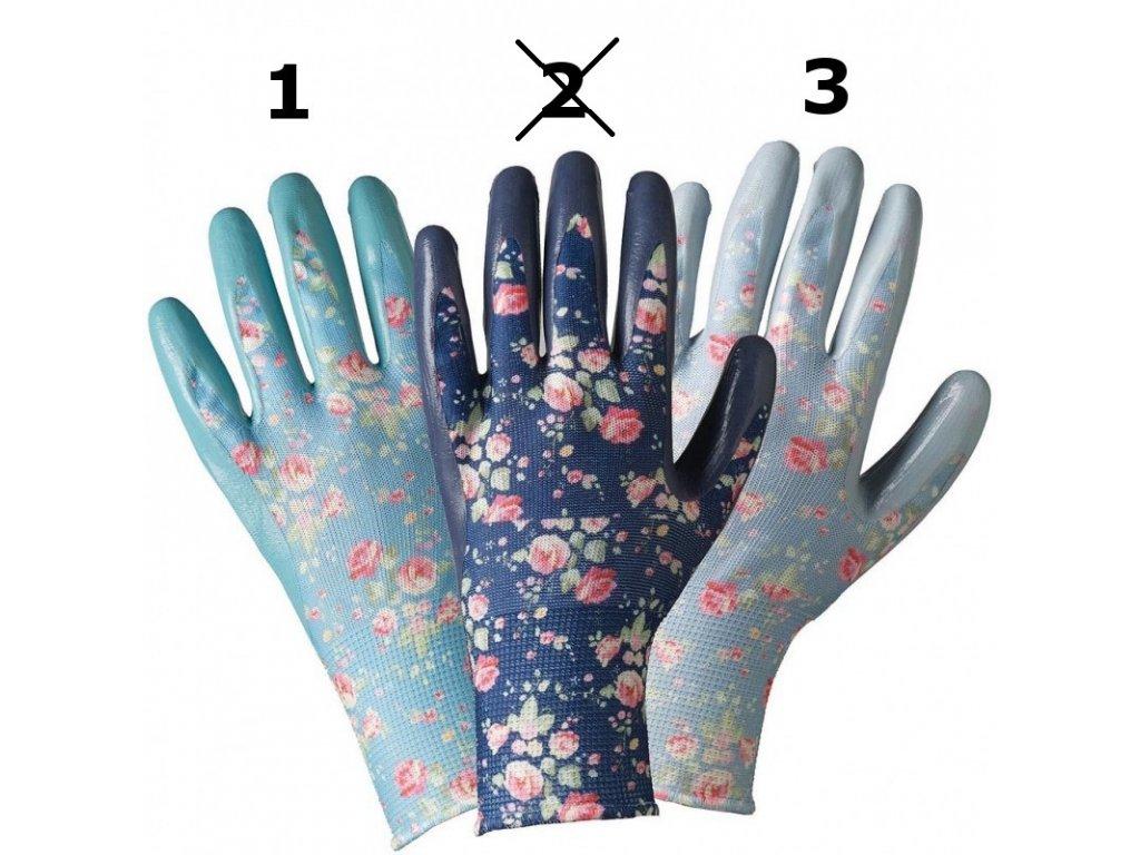 damske kvetovane rukavice nitril (1 3