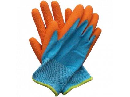detske pracovni rukavice modro oranzove