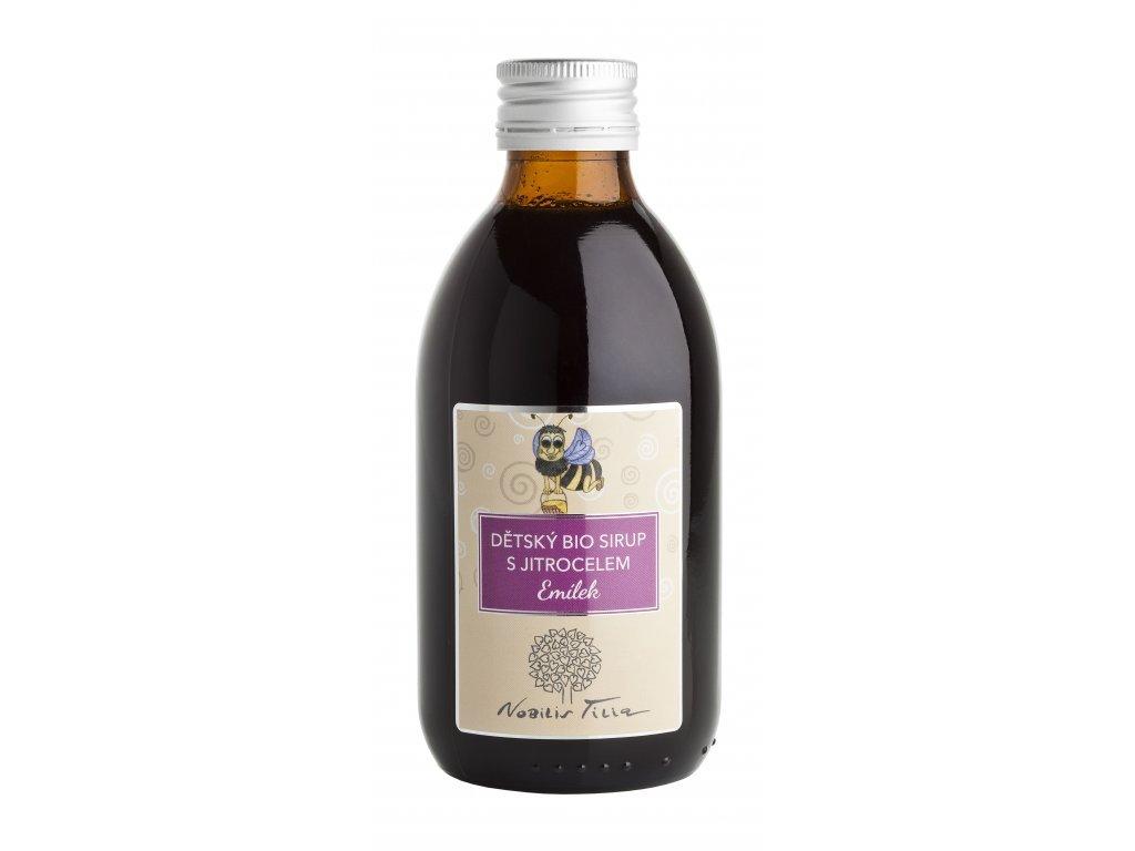 268684 nobilis tilia detsky sirup s jitrocelem emilek bio 250 ml