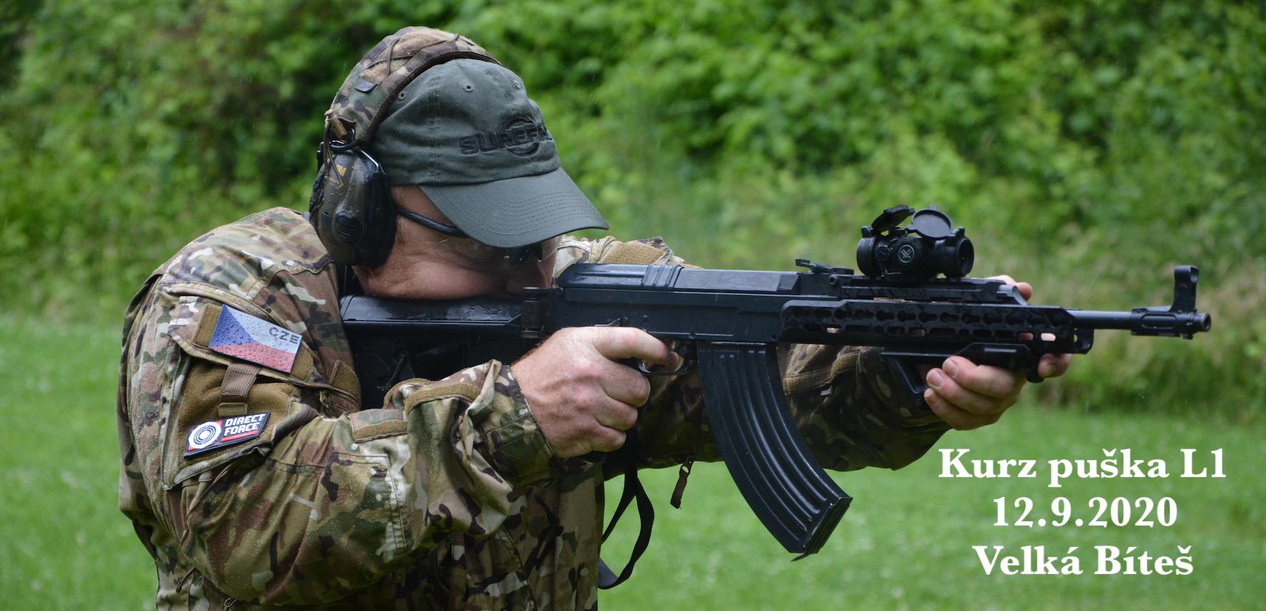 Kurz puška L1 dne 12.9.2020