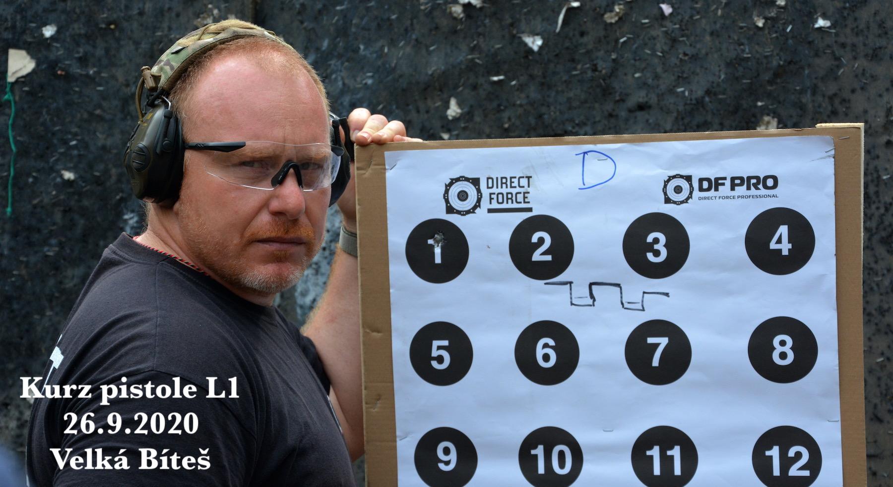 Kurz pistole L1 dne 26.9.2020