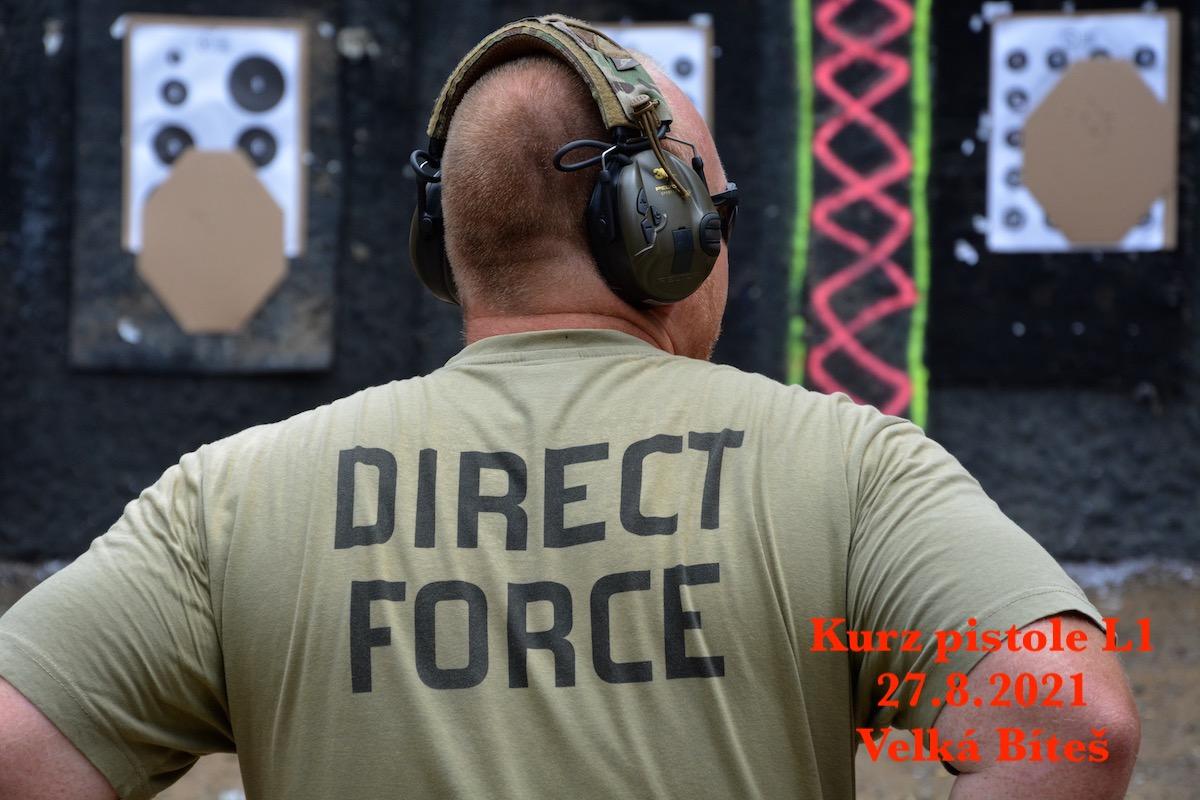 Kurz pistole L1 dne 27.8.2021