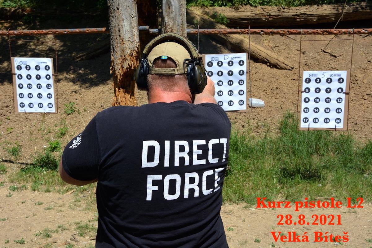 Kurz pistole L2 dne 28.8.2021
