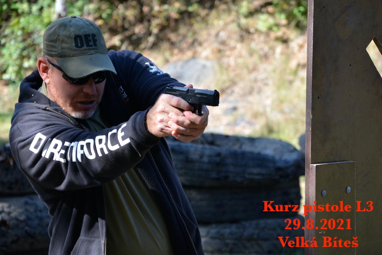 Kurz pistole L3 dne 29.8.2021