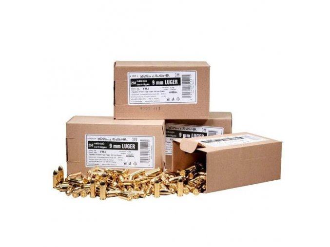 9 mm Luger, S&B, 7,5 g střela, sypané, 250 ks