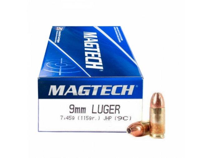 kvalitní, fungující třelivo s expanzní střelou v dostupné cenové relaci Zbrojní průkaz Ano Balení BAL:50 Ráže 9mm Luger